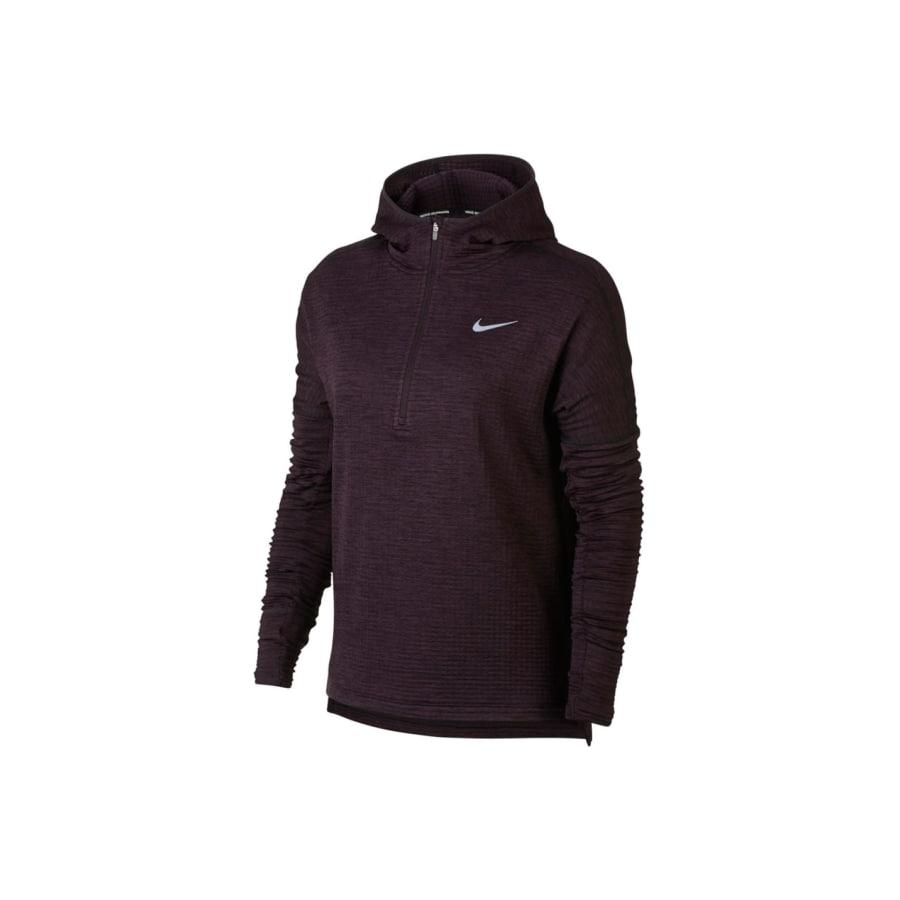 Nike THERMA SPHERE ELEMENT RUNNING HOODIE Laufpullover Damen braun