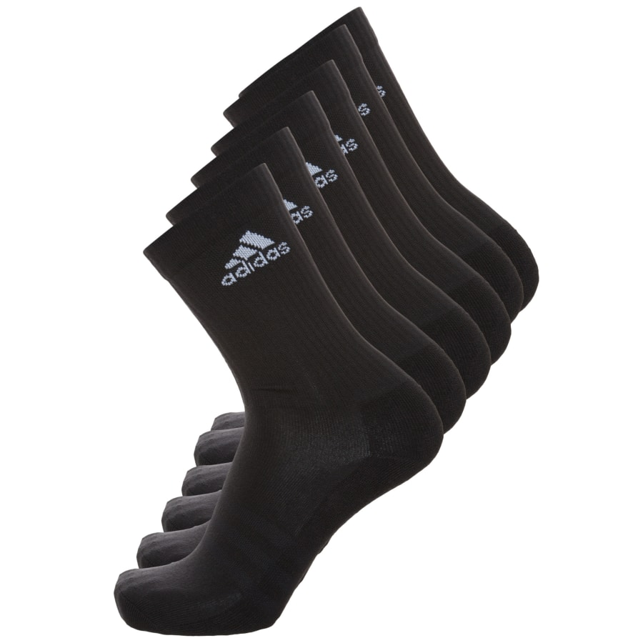 adidas 3 STRIPES PERFORMANCE CREW SOCKEN 6ER PACK schwarz