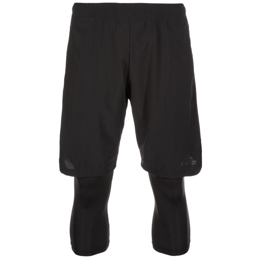 adidas TANGO PL SHONT 2IN1 TRAININGSHOSE Herren schwarz