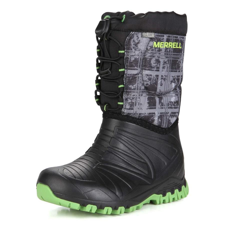Merrell SNOW QUEST LITE WATERPROOF Winterstiefel Kids schwarz-grün 37 MC56215-MY56215