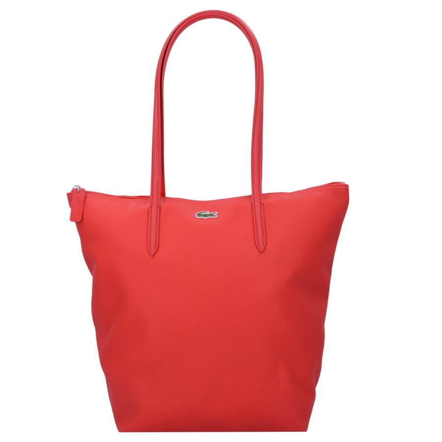 Lacoste SAC FEMME L1212 CONCEPT VERTICAL SHOPPER TASCHE 39 CM Handtasche Damen rot