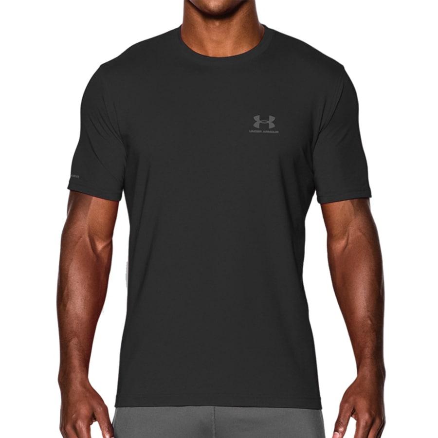 Under Armour CHARGED COTTON LEFT CHEST LOCKUP TEE T-Shirt Herren grau