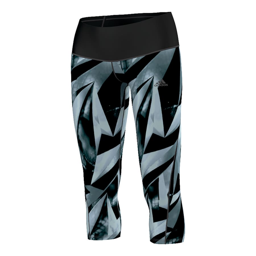 adidas WORKOUT 3/4 HIGH RISE AOP TIGHT Damen schwarz-bunt