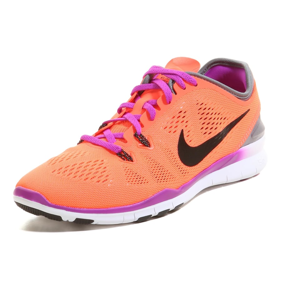 nike free 5 0 tr fit 5 fitness shoes women orange gray purple vaola. Black Bedroom Furniture Sets. Home Design Ideas