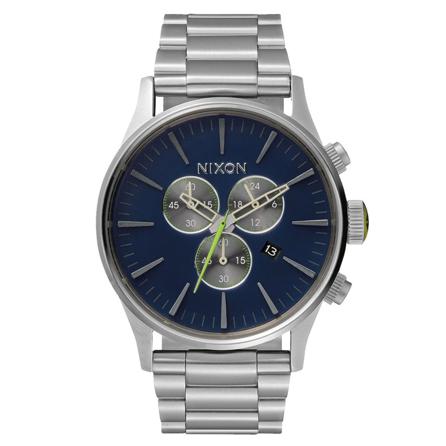 nixon sentry chrono uhr midnight blue quarzuhr herren. Black Bedroom Furniture Sets. Home Design Ideas
