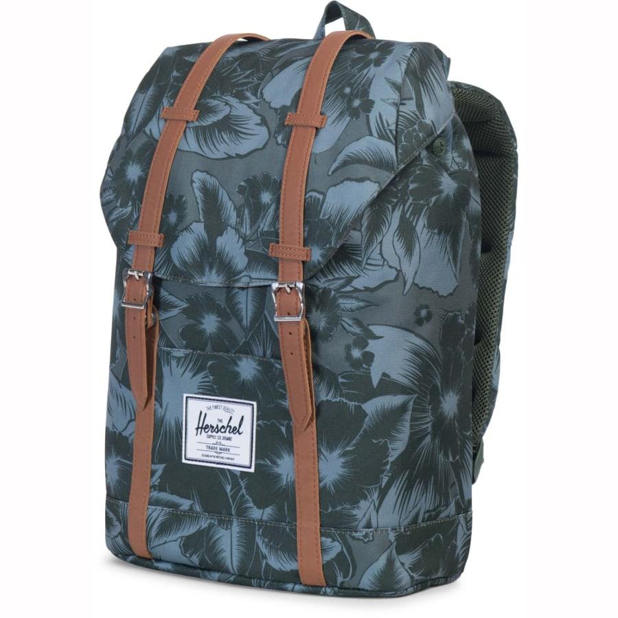 herschel retreat backpack rucksack 43 cn daypack gr n vaola. Black Bedroom Furniture Sets. Home Design Ideas