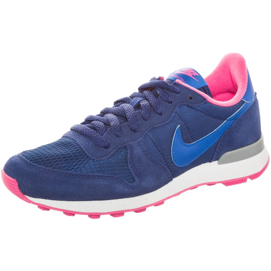nike internationalist sneaker damen blau pink vaola. Black Bedroom Furniture Sets. Home Design Ideas