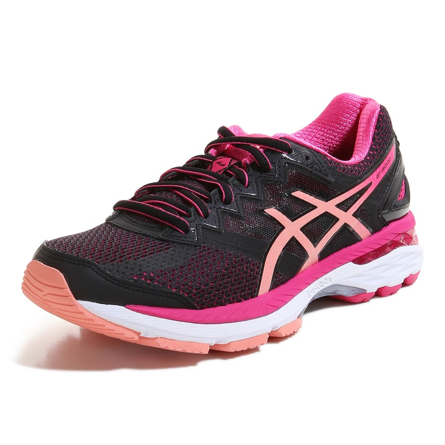 asics gt 2000 4 running shoes women black apricot pink. Black Bedroom Furniture Sets. Home Design Ideas