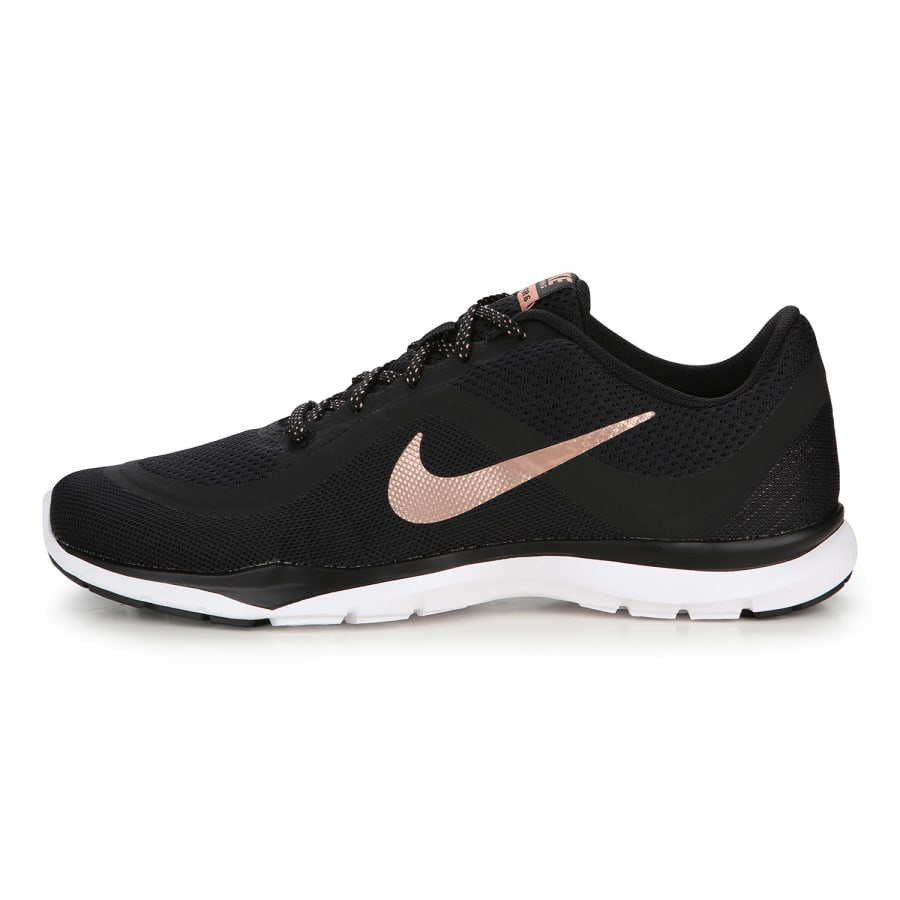 nike flex trainer 6 fitnessschuhe damen schwarz bronze. Black Bedroom Furniture Sets. Home Design Ideas