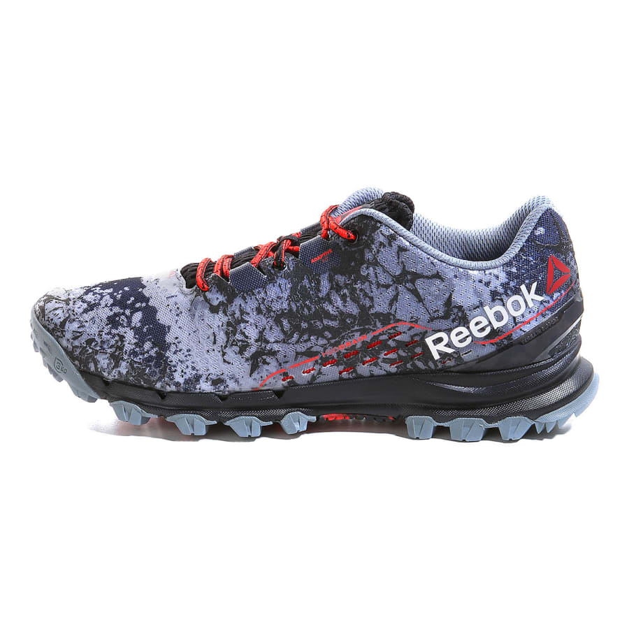 reebok all terrain thrill running shoes men dark grey red vaola. Black Bedroom Furniture Sets. Home Design Ideas