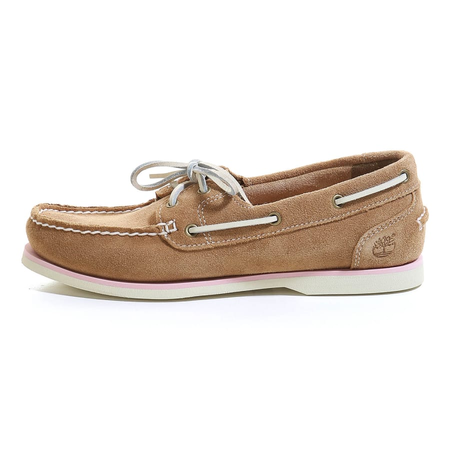 timberland classic boat unlined boat shoes women beige vaola. Black Bedroom Furniture Sets. Home Design Ideas