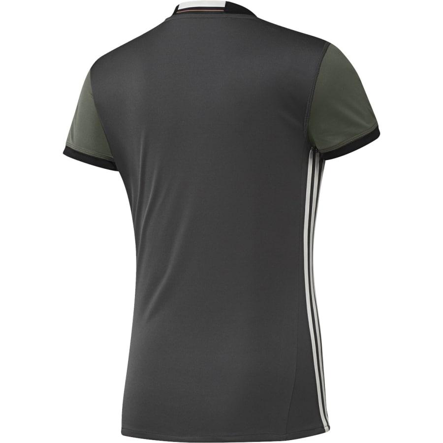 adidas dfb away 2016 fu ball trikot damen grau schwarz. Black Bedroom Furniture Sets. Home Design Ideas