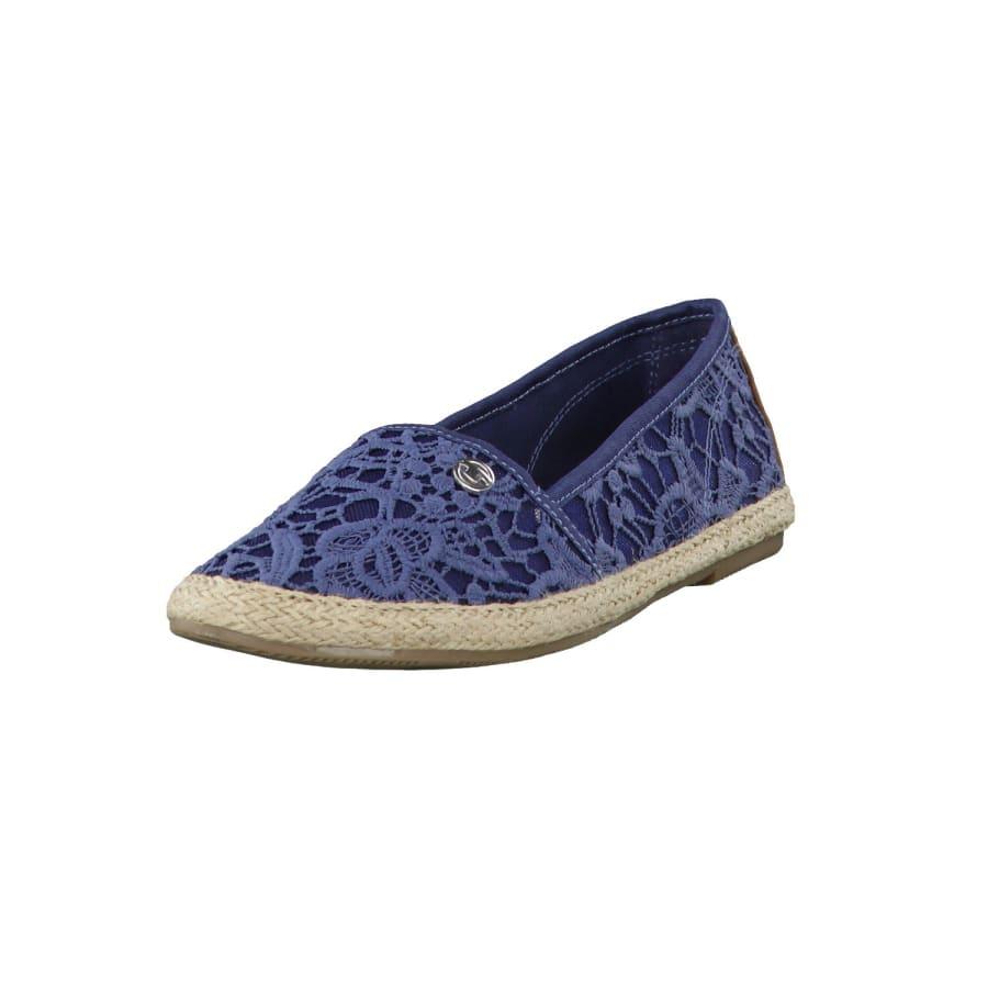 tom tailor espadrilles lace slipper damen blau vaola. Black Bedroom Furniture Sets. Home Design Ideas