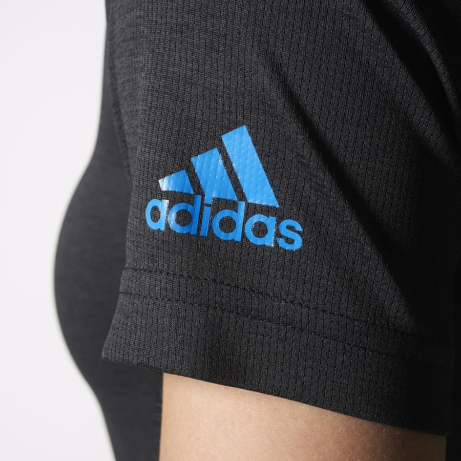 adidas climachill tee t shirt damen grau blau vaola. Black Bedroom Furniture Sets. Home Design Ideas