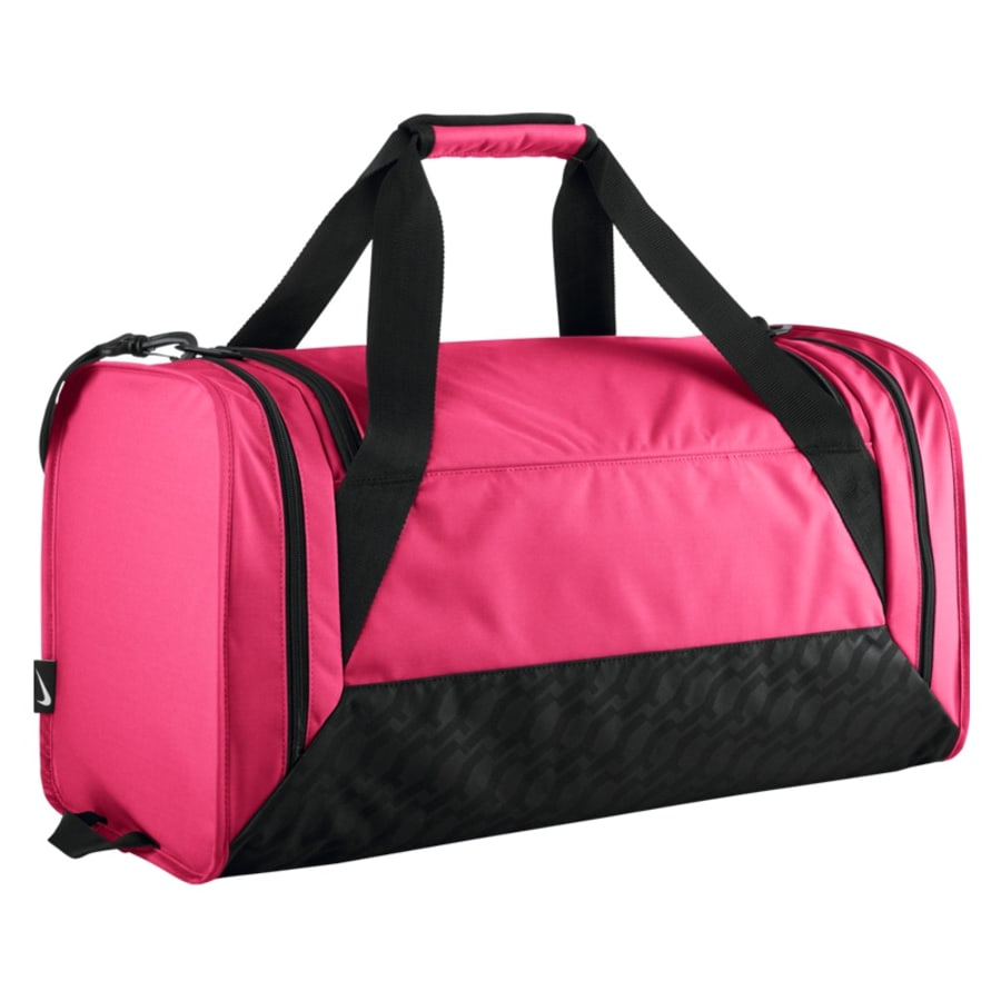nike brasilia duffel m sporttasche damen pink schwarz. Black Bedroom Furniture Sets. Home Design Ideas