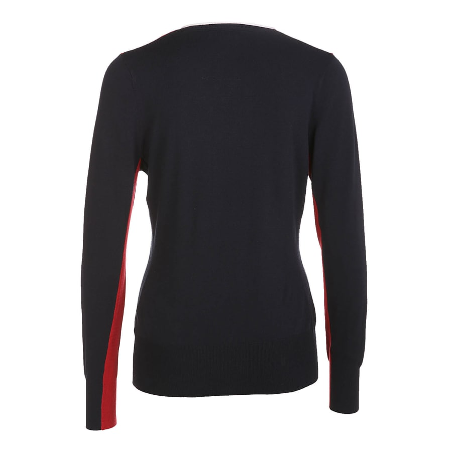 golfino v neck pullover golf sweatshirt damen rot vaola. Black Bedroom Furniture Sets. Home Design Ideas