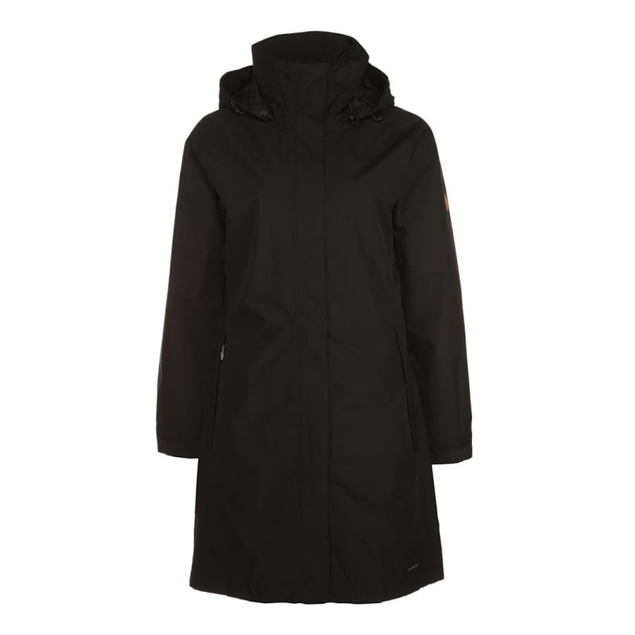 fj llr ven visby jacket mantel damen schwarz vaola. Black Bedroom Furniture Sets. Home Design Ideas