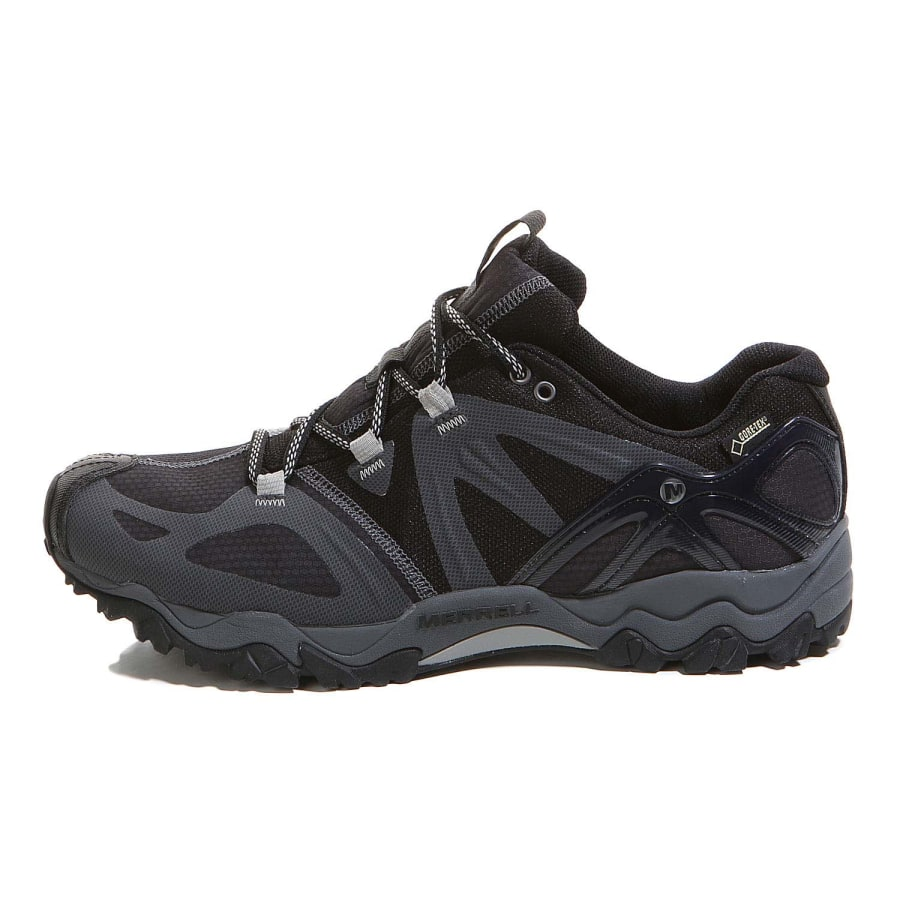 merrell grassbow sport gore tex hiking shoes men black silver vaola. Black Bedroom Furniture Sets. Home Design Ideas