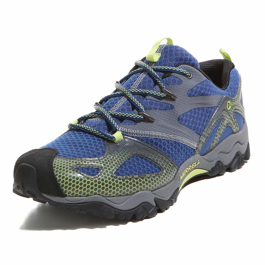 merrell grassbow rider hiking shoes men blue gray vaola. Black Bedroom Furniture Sets. Home Design Ideas
