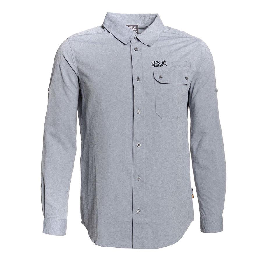 jack wolfskin chilko shirt outdoor shirt men night. Black Bedroom Furniture Sets. Home Design Ideas