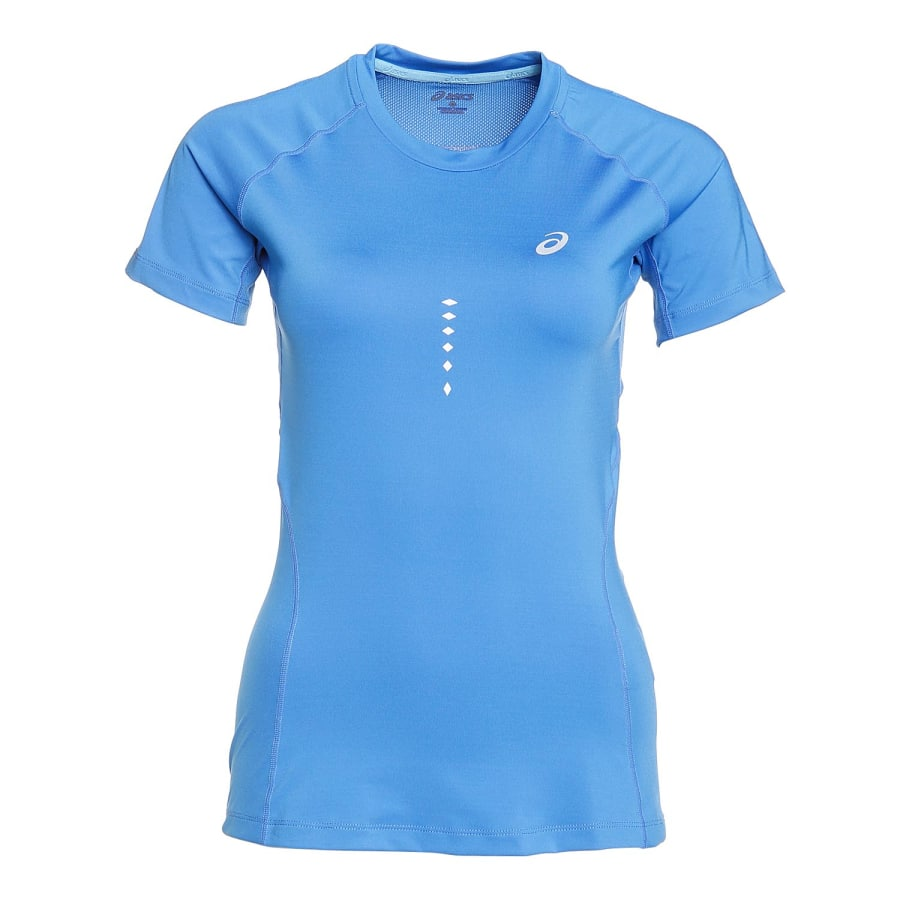 asics top ss running shirt ladies blue vaola. Black Bedroom Furniture Sets. Home Design Ideas