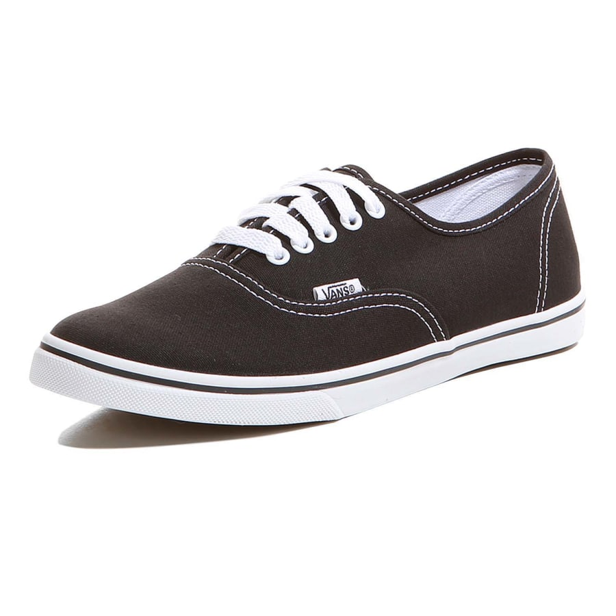vans authentic lo pro trainers black and white vaola. Black Bedroom Furniture Sets. Home Design Ideas
