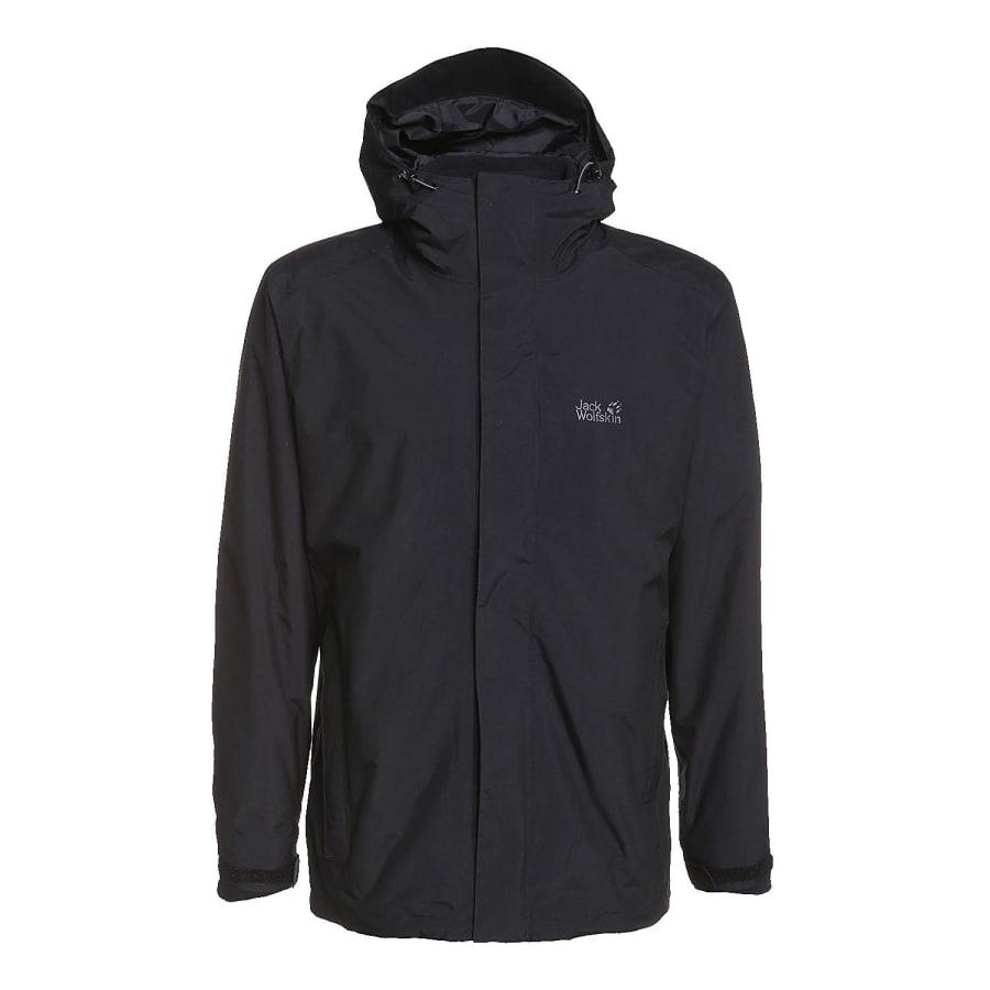 jack wolfskin iceland 3 in 1 double jacket men black. Black Bedroom Furniture Sets. Home Design Ideas