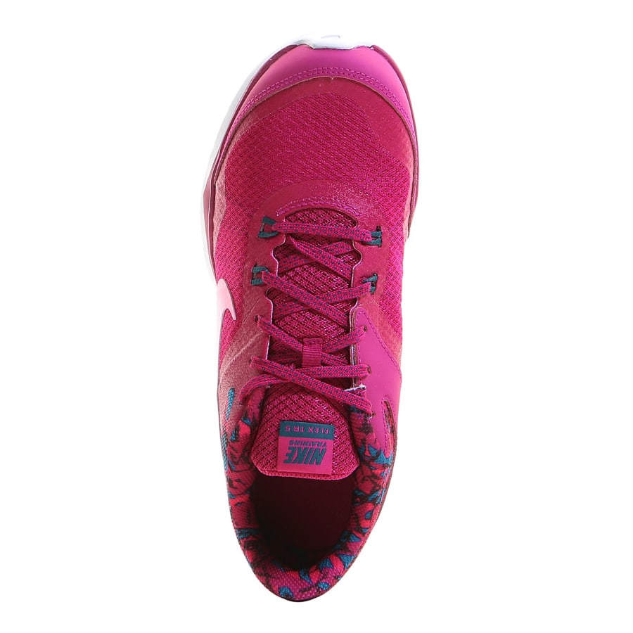 nike flex trainer 5 print fitness shoes women pink. Black Bedroom Furniture Sets. Home Design Ideas