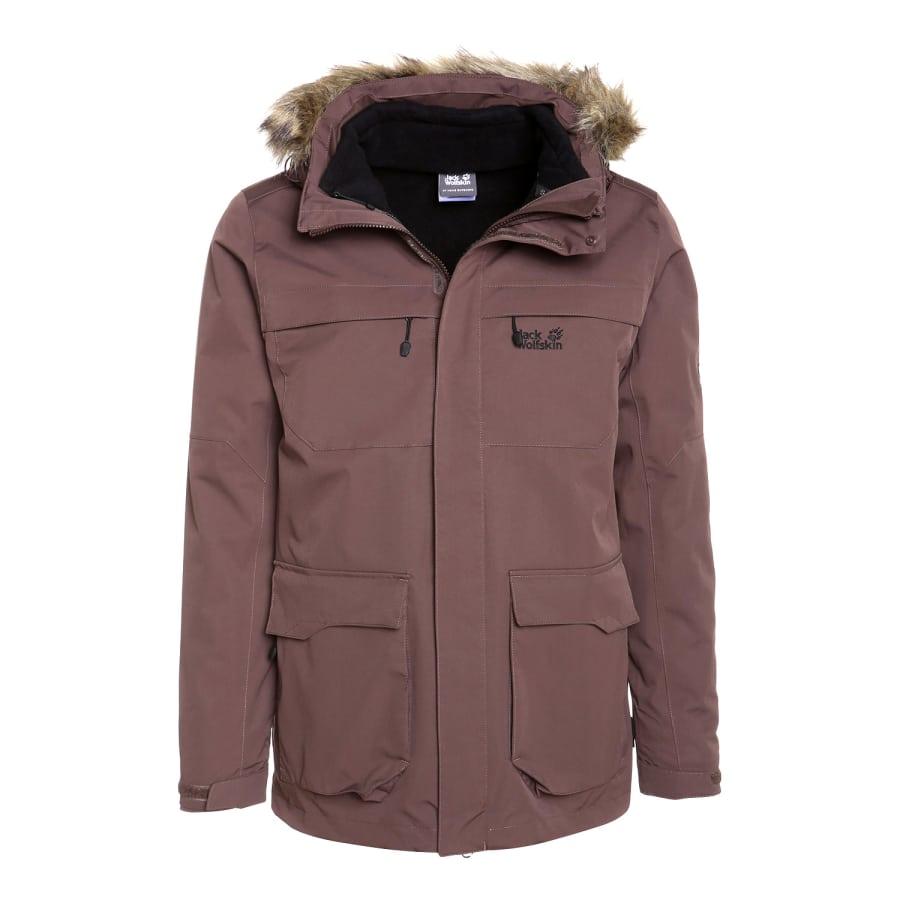 jack wolfskin westport jacket 3 in 1 jacket men brown. Black Bedroom Furniture Sets. Home Design Ideas