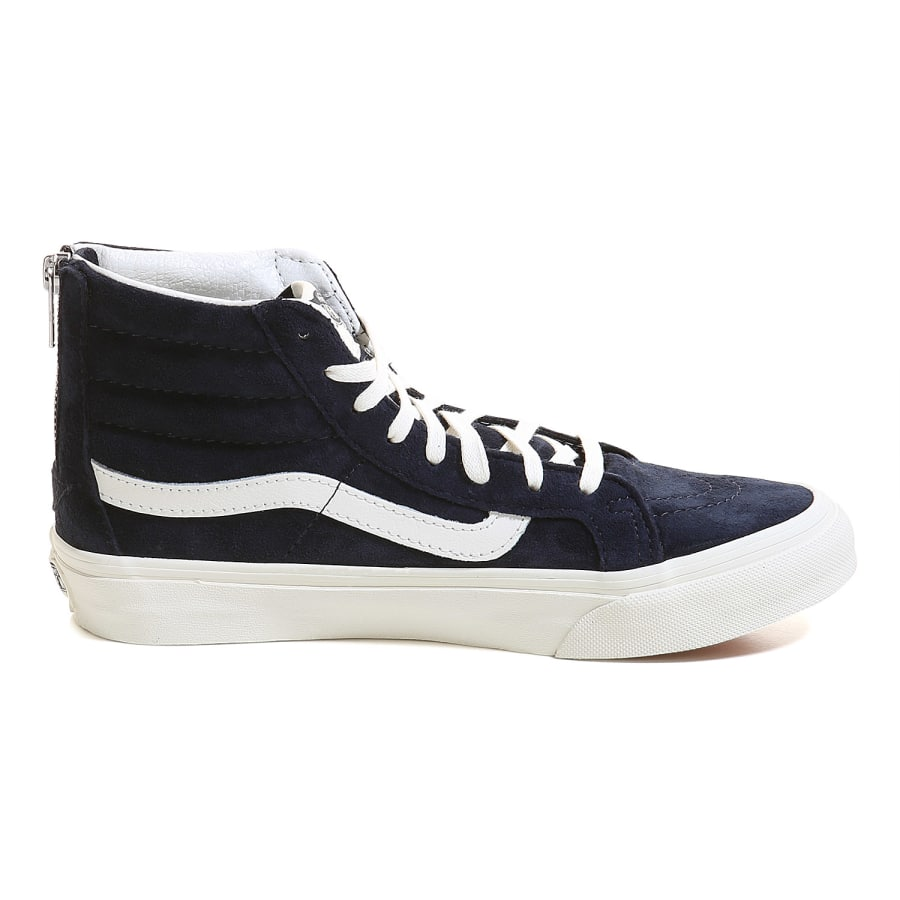 vans sk8 hi slim zip sneaker damen blau vaola. Black Bedroom Furniture Sets. Home Design Ideas