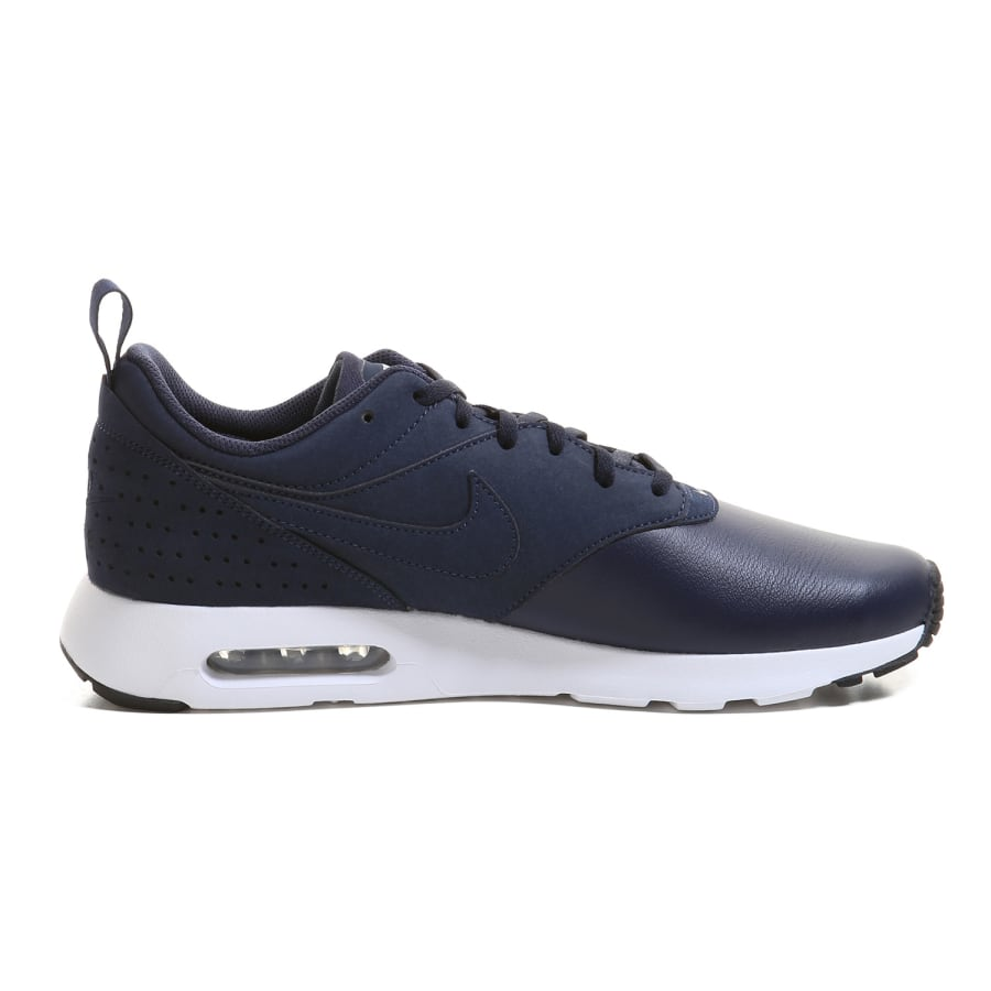 nike air max tavas leather sneaker men navy white vaola. Black Bedroom Furniture Sets. Home Design Ideas