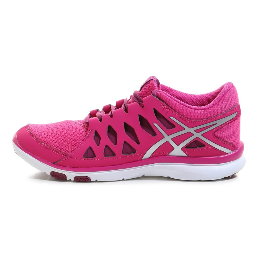 asics gel fit tempo 2 fitnessschuhe damen pink silber. Black Bedroom Furniture Sets. Home Design Ideas