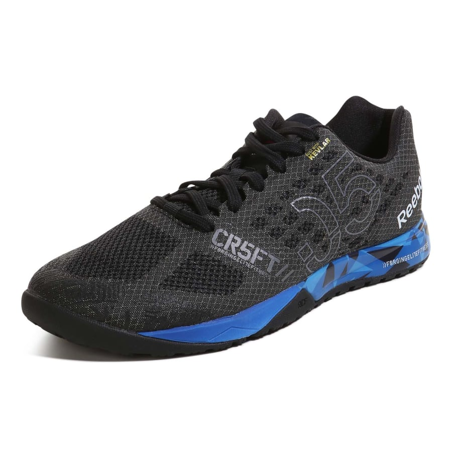 reebok r crossfit nano 5 0 fitness shoes men black blue vaola. Black Bedroom Furniture Sets. Home Design Ideas