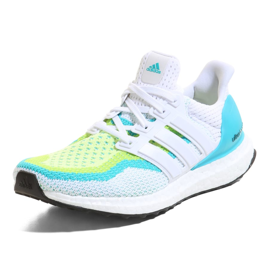 adidas ultra boost laufschuhe damen wei limette gr n. Black Bedroom Furniture Sets. Home Design Ideas