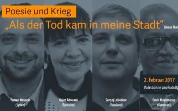 """Poesie & Krieg """"Als der Tod kam in meine Stadt"""""""