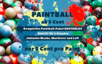 Paintball-Action ab 5 Cent im Adrenalinpark