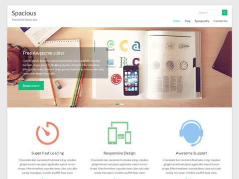 spacious free responsive wordpress theme