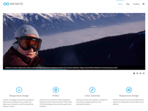 infinite free responsive wordpress theme