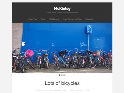 McKinley free wordpress theme