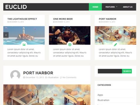 Euclid Free WordPress Theme