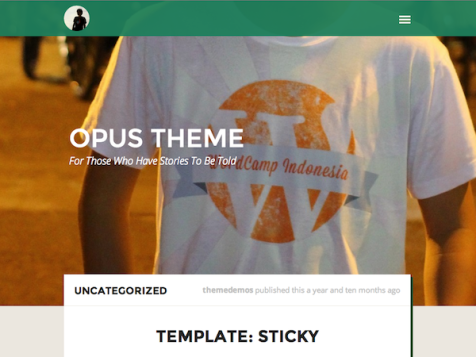 opus free wordpress theme