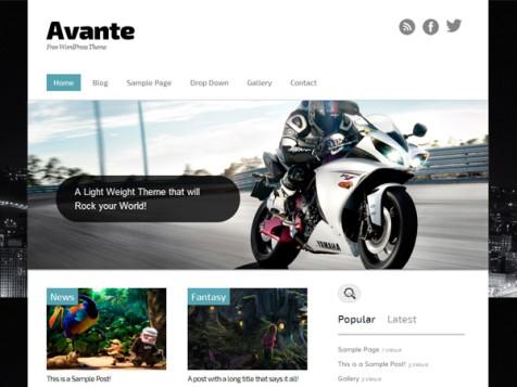 avante free wordpress theme