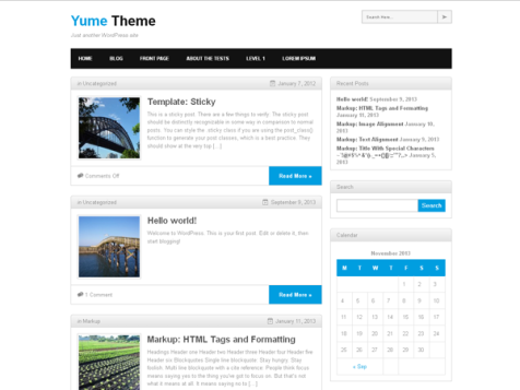 yume free responsive wordpress theme
