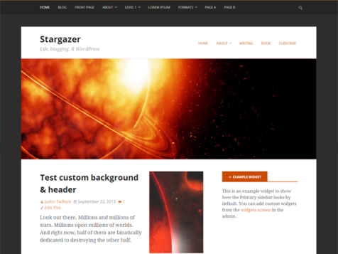 stargazer free wordpress theme