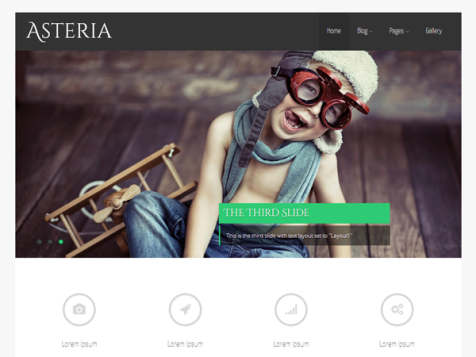 Asteria lite free responsive wordpress theme
