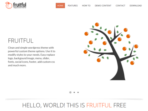 Fruitful free responsive wordpress theme