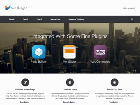 vintage free responsive wordpress theme