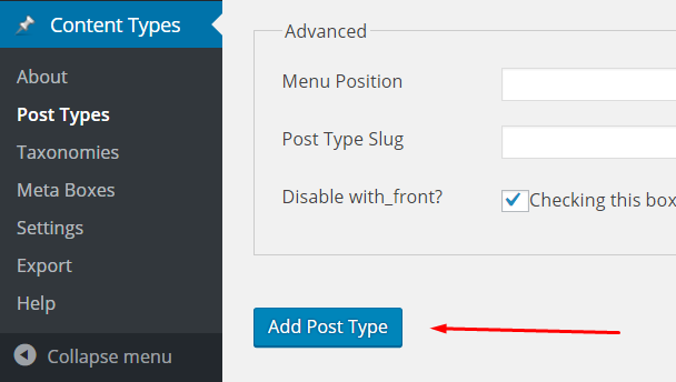 custom post types - add new
