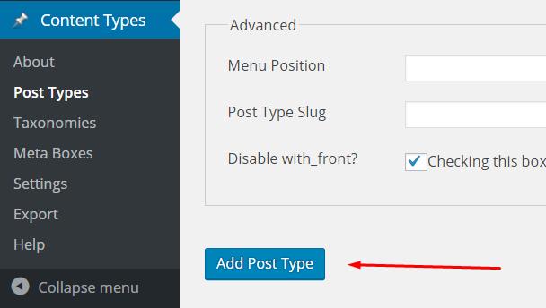 custom post types - add new