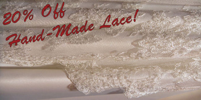 Handmade lace sale